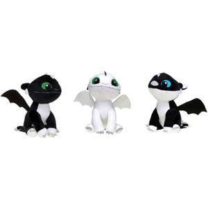 PELUCHE Peluche dragons 3 lot des 3 bébés 30 cm