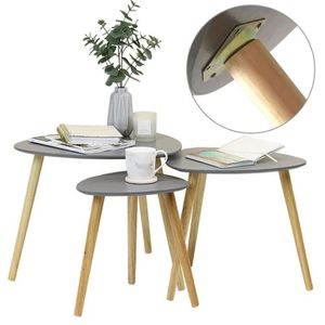 TABLE BASSE Table Ronde gris basse moderne Loisirs thé Table E