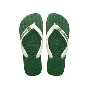 TONG Tongs homme HAVAIANAS brasil logo vert et blanc
