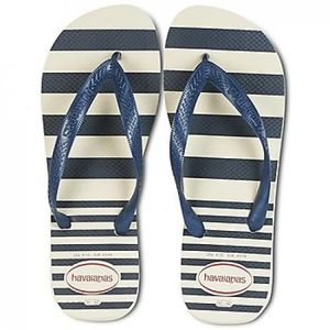 TONG Tongs homme HAVAIANAS, Top retro beige à rayures