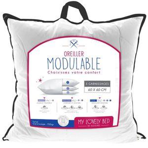OREILLER My Lovely Bed - Oreiller  Modulable 60x60cm - 3 co
