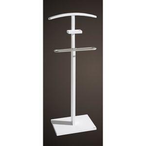 Superieur VALET DE CHAMBRE Valet Nuit Simple Blanc Dim: 46 X 28 X 110 Cm (