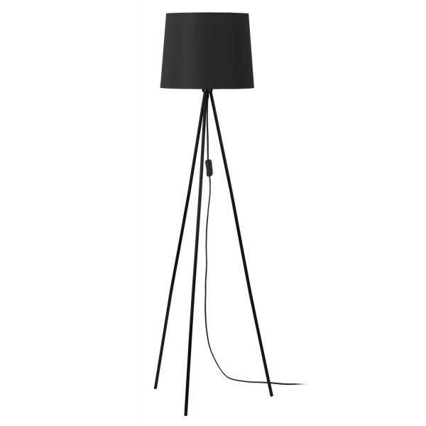 MATHIAS Lampadaire Miya - Trépied en fer laqué noir - Ø35 x H 146 cm