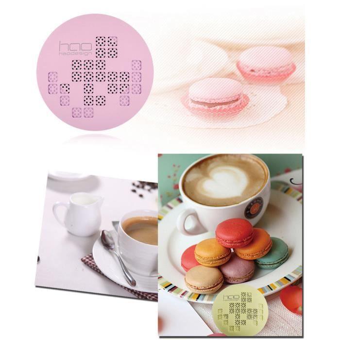 Hao Design Mini Haut-parleur Bluetooth Sans Fil Rechargeable Douce Macaron _ly495
