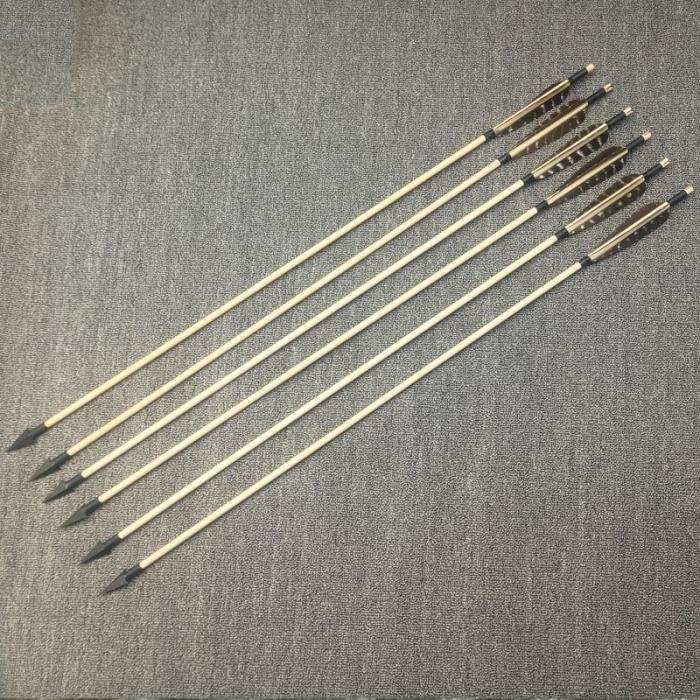 SHARROW 12pcs Fl/èches de Carbone 31 Pouces Spine 600 pour la Chasse au Tir /à larc