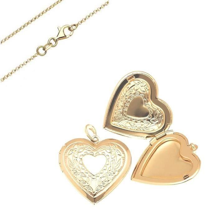 Cha ne et pendentif porte photo coeur grand mod le argent 925 achat vente sautoir et collier - Pendentif porte photo argent ...