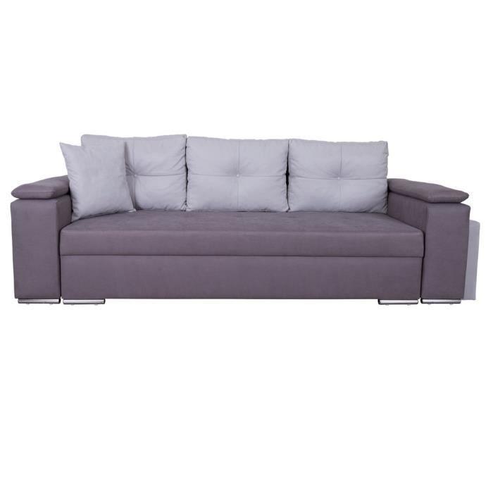 canap sofa divan canap convertible en tissu avec poufs intgrs em - Canape Avec Pouf Integre