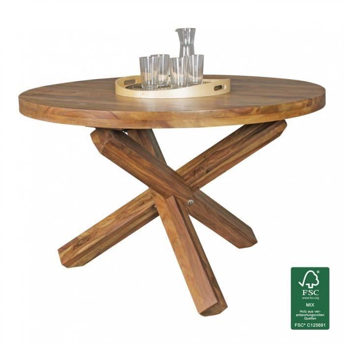 Beau Table Ronde Design En Bois De Sheesham 120 Cm X 75 Cm