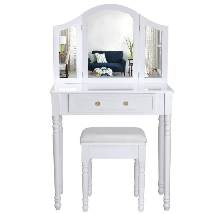 coiffeuse coiffeuse meuble blanc table de maquillage commode