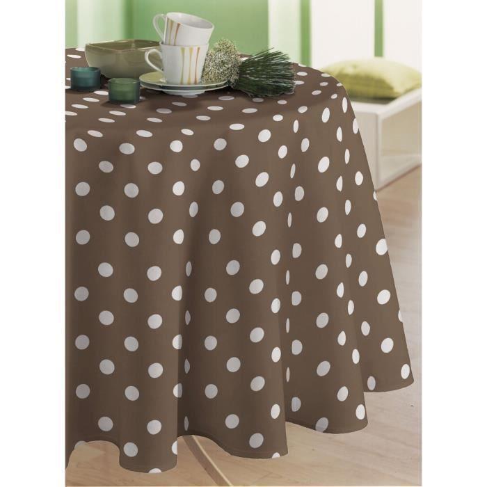 nappe en toile cir e rectangulaire 140x200 cm martin taupe achat vente nappe de table. Black Bedroom Furniture Sets. Home Design Ideas