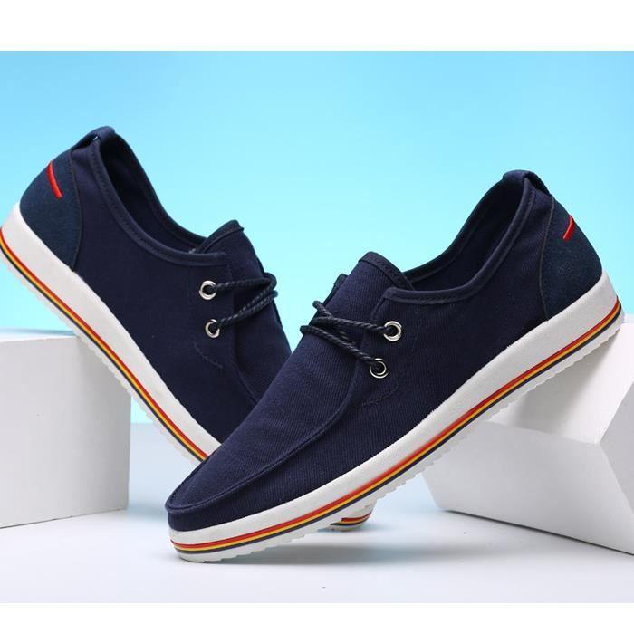 à toile chaussures de respirant mode faible baskets loisirs la hommes aide les casual épais lacets à à tendance 5zrqwRrd