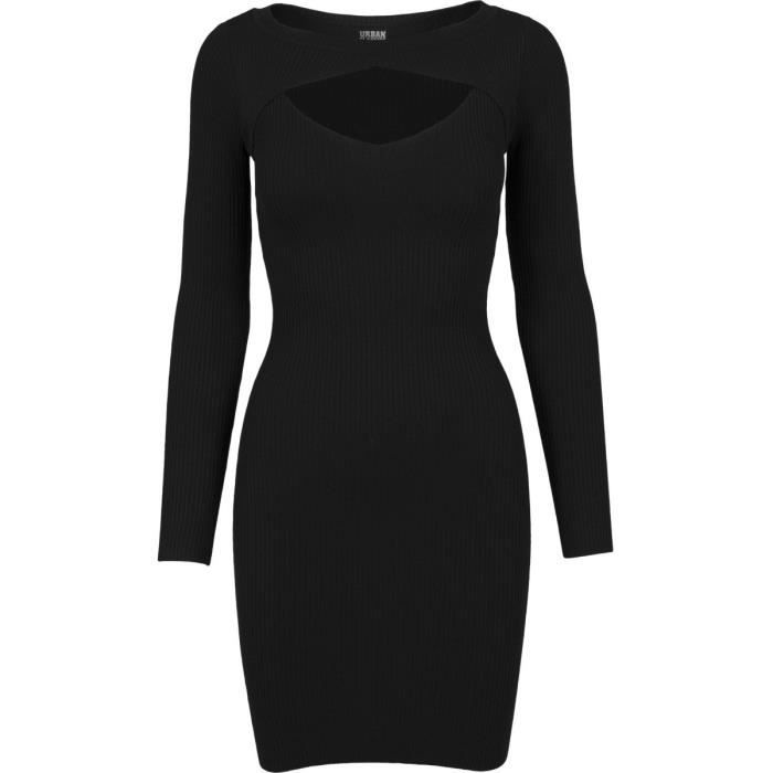 Urban Classics Femme - CUT OUT Robe noir
