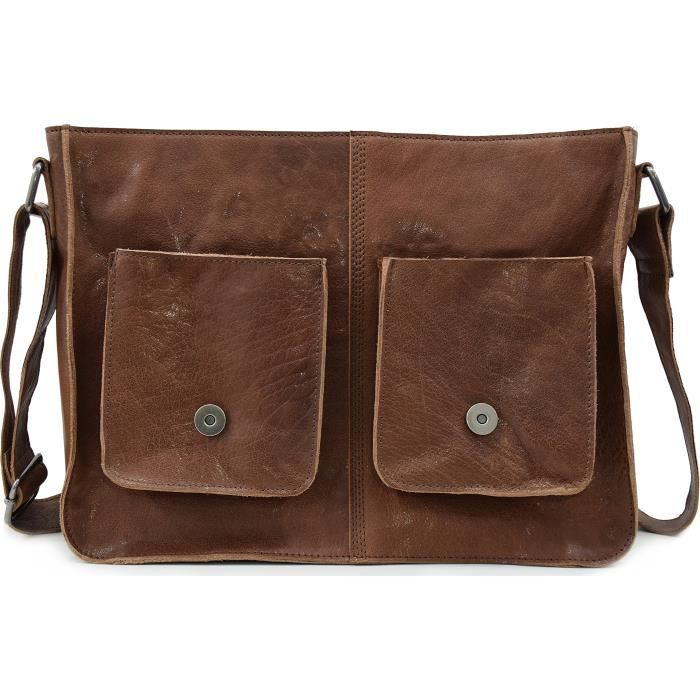 Messenger hommes Jay cuir 8 Ltrs Sac OEAMT