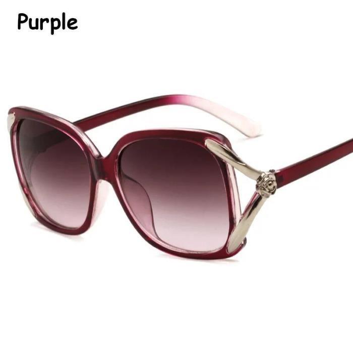 Mode femme Lunettes de soleil cre rouge transparent rouge transparentux Rose Eyeglass