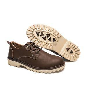 Hemme Martin Bottine Nouvelle Arrivee Chaussures DéContractéEs RéSistantes à L'Usure Hemmes Bottine Grande Taille,noir,46