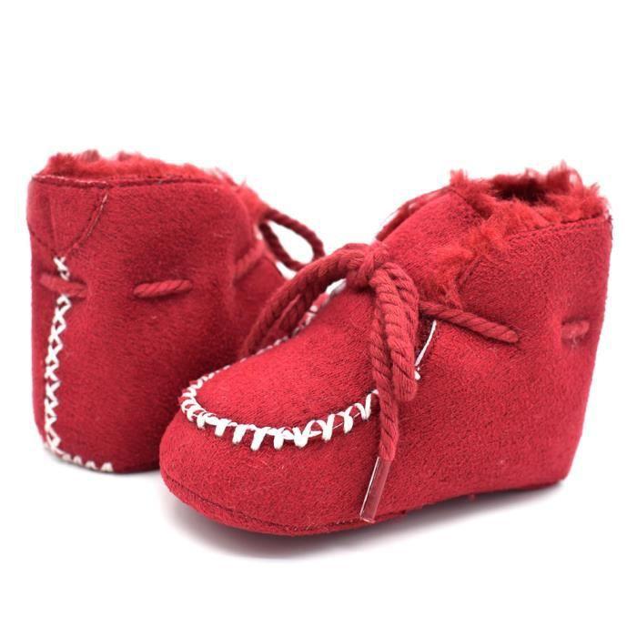 Automne Chaussures Tendance mou Bottes Nouveau Bébé coton Rouge bébé Fond et Loisirs en hiver BI8IdwF