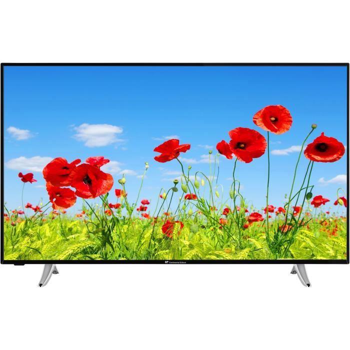Continental edison smart tv led 4k uhd 55 139cm wifi bluetooth netflix you tube hdr classe énergétique a