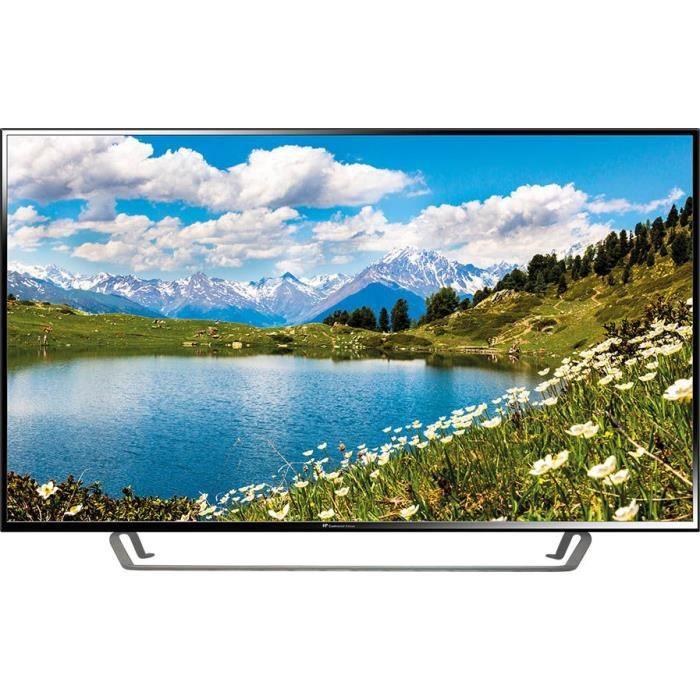 CONTINENTAL EDISON TV LED 4 K UHD 55' (140 cm)  - Résolution 3840x2160 - 3x HDMI, 2x USB - Pied cent