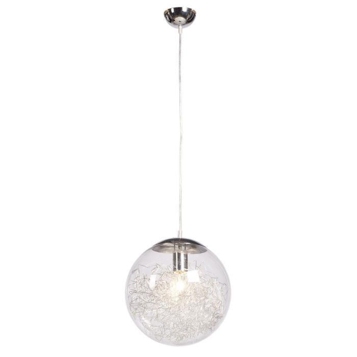 AMP Lustre - suspension boule Ø30cm. Hauteur plafond 120cm