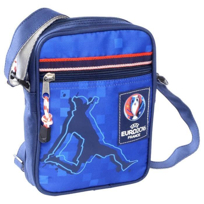 UEFA - EURO 2016 Porte Travers - 1 Compartiment - 12 à 18 ans - Classe Secondaire - Bleu - 15 cm - Enfant Garçon