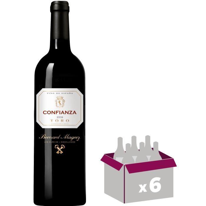BERNARD MAGREZ Confianza - 2009 - Toro - Vin Rouge d'Espagne - 75 cl x6VIN ROUGE