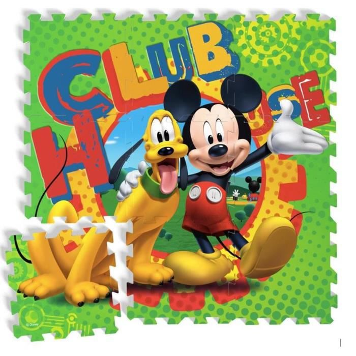 mickey tapis puzzle eva pour enfant mickey pluto. Black Bedroom Furniture Sets. Home Design Ideas