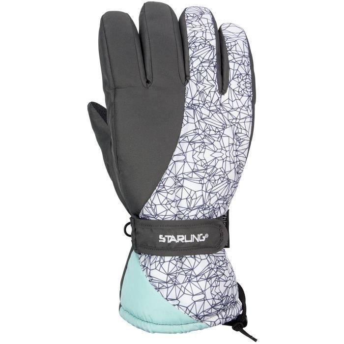 STARLING Gants de Ski Adulte - Gris et Blanc