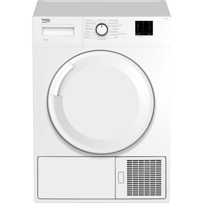 BEKO SLC09W2 -Sèche-linge à condensation-9 kg-Classe B-Départ différé : 3-6-9 heures-Blanc