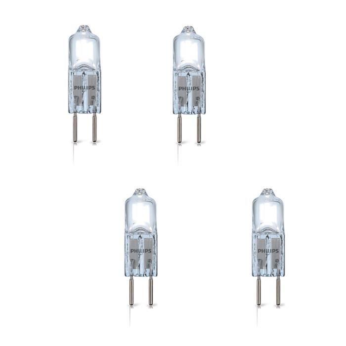PHILIPS Lot de 4 ampoules Ecoclassic G4 7 W équivalent à 10 W