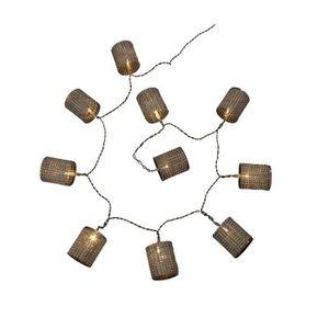 GUIRLANDE LUMINEUSE INT Guirlande de Noël en tubes diamants argenté - 10 L