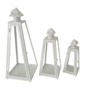 HOUSSE DE COUETTE HOMEA Set de 3 lanternes pyramide en métal H30-40-