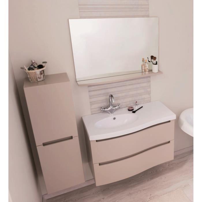 Meuble salle de bain blanc laque achat vente pas cher Meuble salle de bain laque pas cher