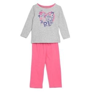 PYJAMA BRONZINI Pyjama Jersey Gris / Fuchsia