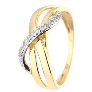 BAGUE - ANNEAU MONTE CARLO STAR Bague Or jaune 375° et Diamant
