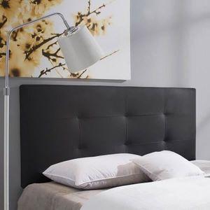 t te de lit noir achat vente t te de lit noir pas cher soldes d s le 10 janvier cdiscount. Black Bedroom Furniture Sets. Home Design Ideas