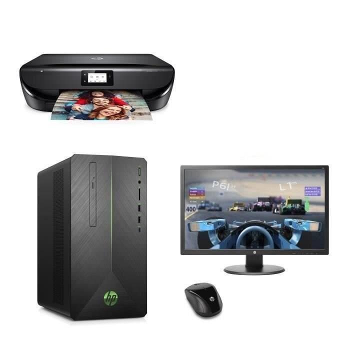 UNITÉ CENTRALE + ÉCRAN HP PC Gamer Pavilion 590-p0139nf - Core i5-9400F -