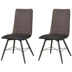 CHAISE SHIMONE Lot de 2 chaises de salle à manger - Simil