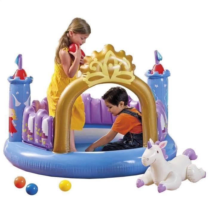 Intex aire de jeux gonflable ch teau f erique achat for Aire de jeu gonflable piscine