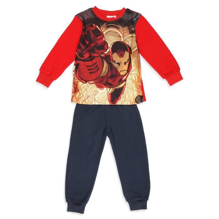 c8d72b99f3fb4 AVENGERS Pyjalong Polaire Rouge Enfant Garçon Rouge - Achat   Vente ...