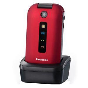 Téléphone portable Panasonic KX-TU329 Rouge - Téléphone Senior
