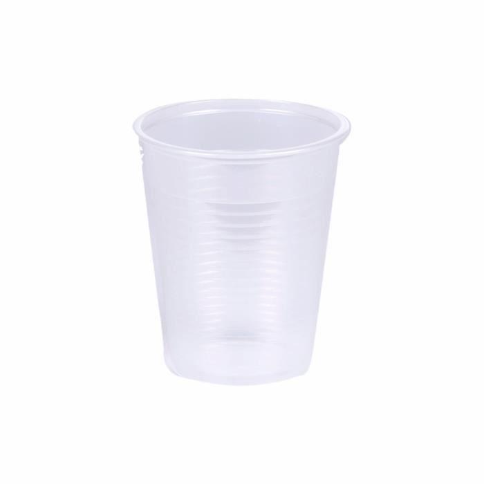VERRE JETABLE Lot de 100 gobelets plastiques - 20 cl - Transpare