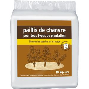 Paillis de chanvre pour tous types de plantation - 10kg