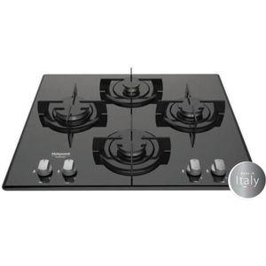 HOTPOINT ARISTON FRDD642/HA(BK) Table de cuisson gaz - 4 foyers - 7300W - L60 x P51cm - Rev?tement verre - Noir
