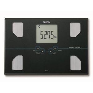 TANITA BC313BK36 P?se-personne compact en verre avec écran LCD large - Noir