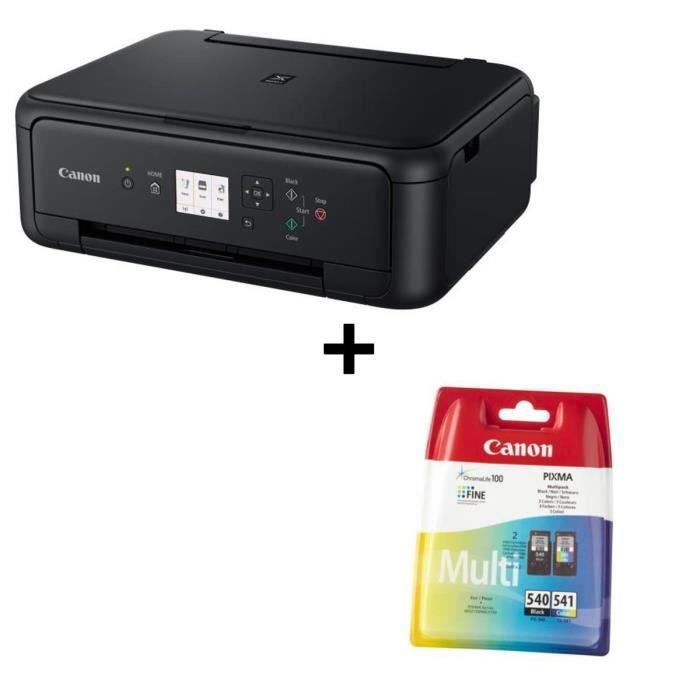Pack CANON Imprimante Multifonction 3 en 1 couleur PIXMA TS5150 + Pack de 2 Cartouches PG-540 / CL-541 - Noir + Couleur