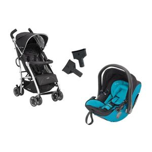 KIDDY Poussette Combinée Duo City'N'Move + Cosy Evolution Pro 2 Hawaii