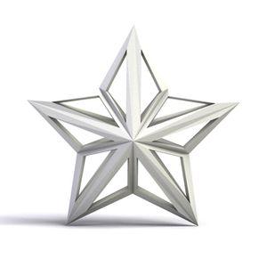Suspension étoile filante 5 branches personnalisée