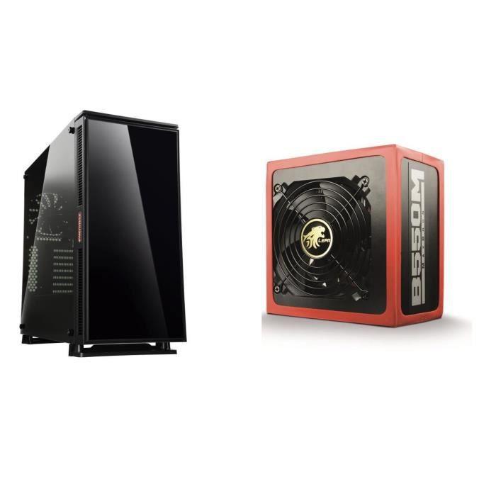 Pack Boîtier PC ENERMAX Equilence (3 ventilateurs intégrés) + Alimentation LEPA 550W MaxBron 80+ Bronze