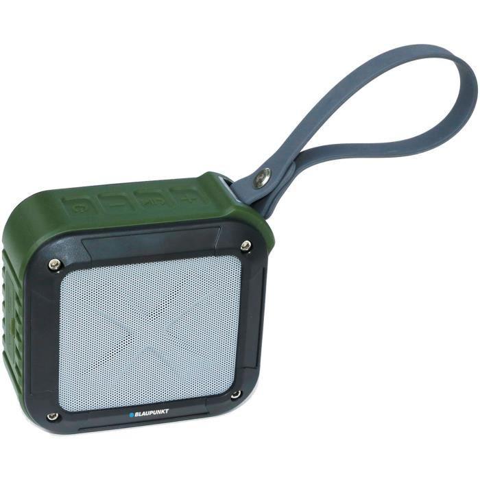 Enceinte Bluetooth Anti-choc et étanche 3W Noire - Distance Bluetooth jusqu'à 10m - Etanche IPX6 et anti-chocsENCEINTE NOMADE - HAUT-PARLEUR NOMADE - ENCEINTE PORTABLE - ENCEINTE MOBILE - ENCEINTE BLUETOOTH - HAUT-PARLEUR BLUETOOTH