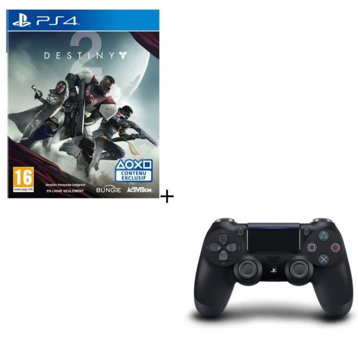 Destiny 2 + Manette PS4 Noire